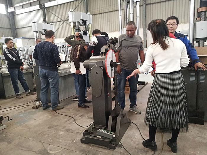 济南辰达国外客户到厂验收试验机设备